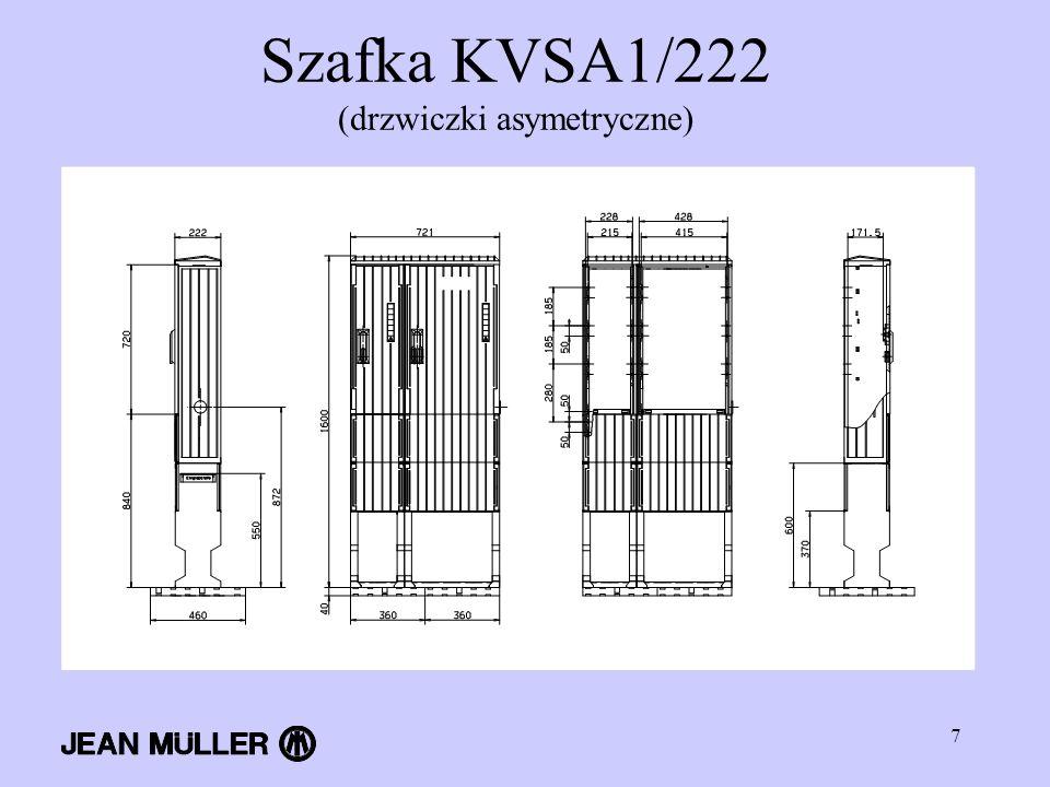 7 Szafka KVSA1/222 (drzwiczki asymetryczne)