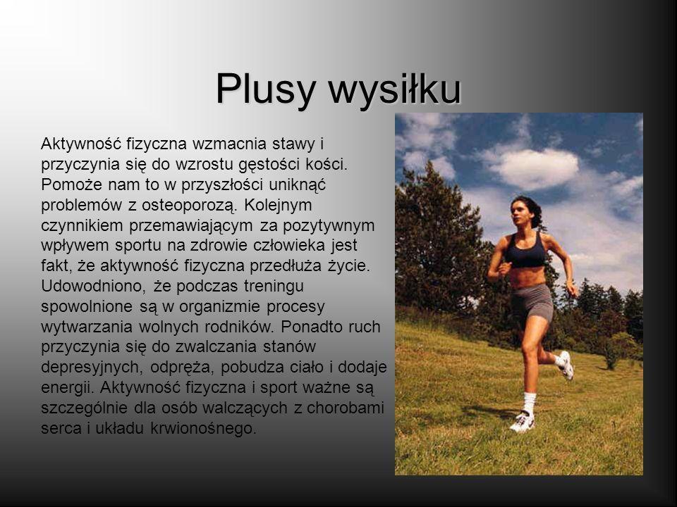 Sport Aktywność fizyczna to jeden z podstawowych elementów zdrowego stylu życia. Brak ruchu lub jego niedostateczna ilość mogą prowadzić do poważnych