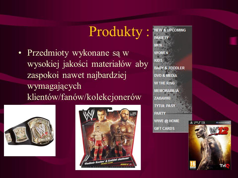 Produkty : Przedmioty wykonane są w wysokiej jakości materiałów aby zaspokoi nawet najbardziej wymagających klientów/fanów/kolekcjonerów