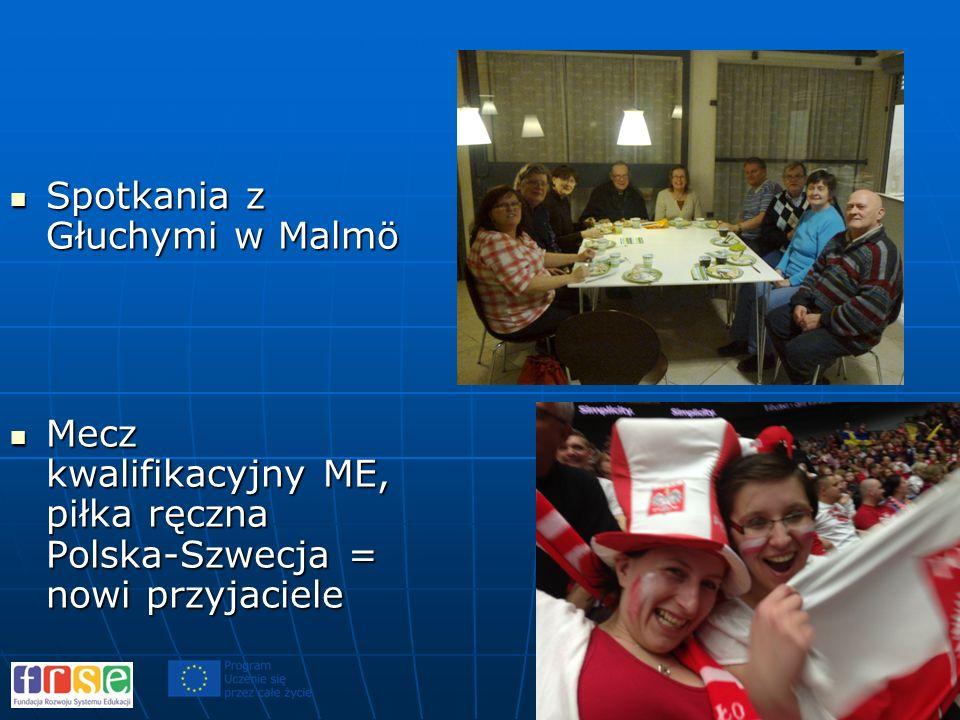 Spotkania z Głuchymi w Malmö Spotkania z Głuchymi w Malmö Mecz kwalifikacyjny ME, piłka ręczna Polska-Szwecja = nowi przyjaciele Mecz kwalifikacyjny M