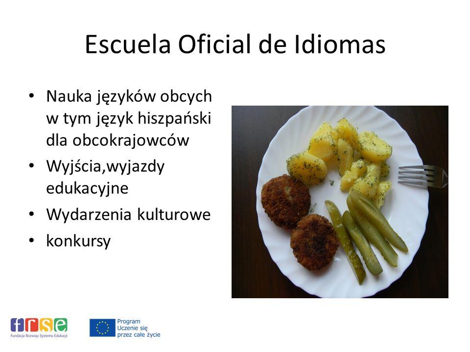 Escuela Oficial de Idiomas Nauka języków obcych w tym język hiszpański dla obcokrajowców Wyjścia,wyjazdy edukacyjne Wydarzenia kulturowe konkursy