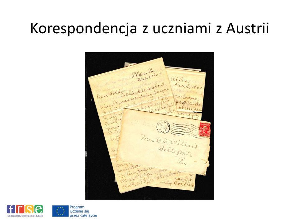 Korespondencja z uczniami z Austrii