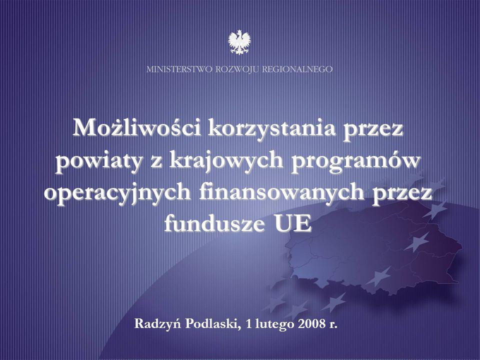 Cel programu: wspieranie transgranicznych procesów rozwojowych Priorytet 1.