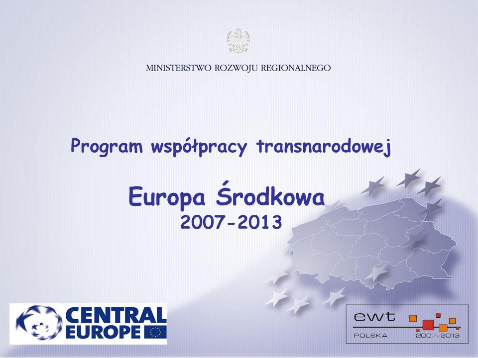 Program współpracy transnarodowej Europa Środkowa 2007-2013