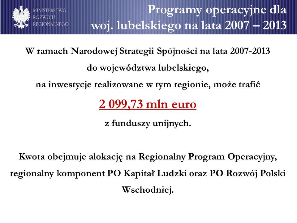 Programy operacyjne dla woj.