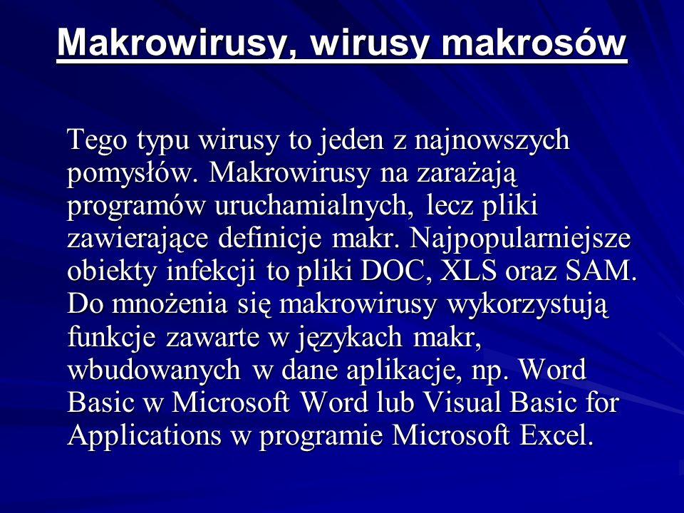 Robaki Robak to program, którego działanie sprowadza się do tworzenia własnych duplikatów, tak, że nie atakuje on żadnych obiektów, jak to czynią wirusy.