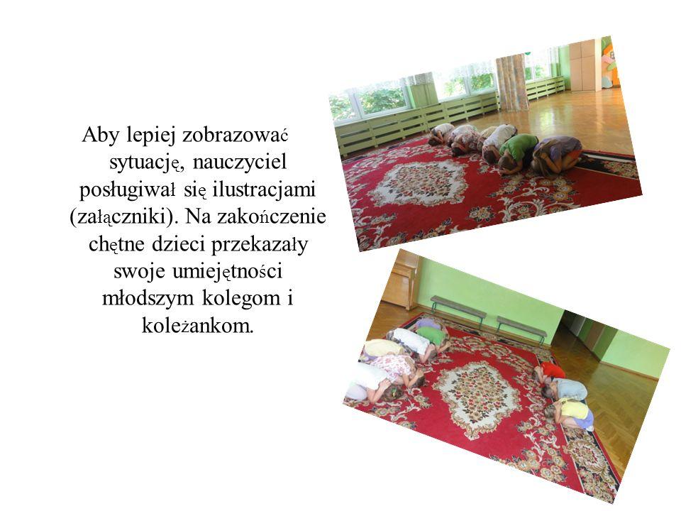Aby lepiej zobrazowa ć sytuacj ę, nauczyciel posługiwa ł si ę ilustracjami (za łą czniki).