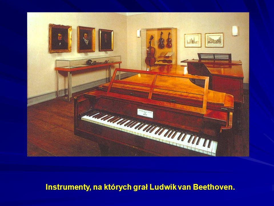 Instrumenty, na których grał Ludwik van Beethoven.