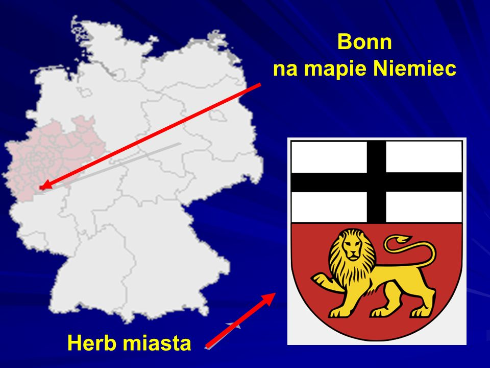 Bonn - jest miastem na prawach powiatu, położonym na zachodzie Niemiec w Nadrenii Północnej-Westfalii nad rzeką Ren.