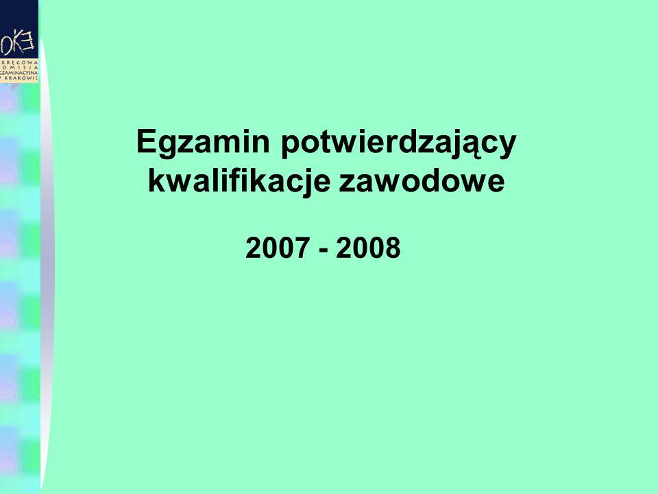 Egzamin potwierdzający kwalifikacje zawodowe 2007 - 2008