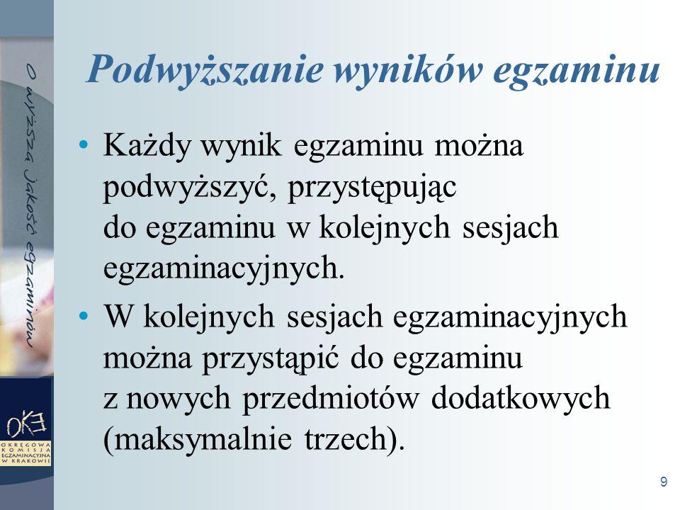 20 Egzaminy maturalne od 2009 roku informatyka język łaciński i kultura antyczna filozofia