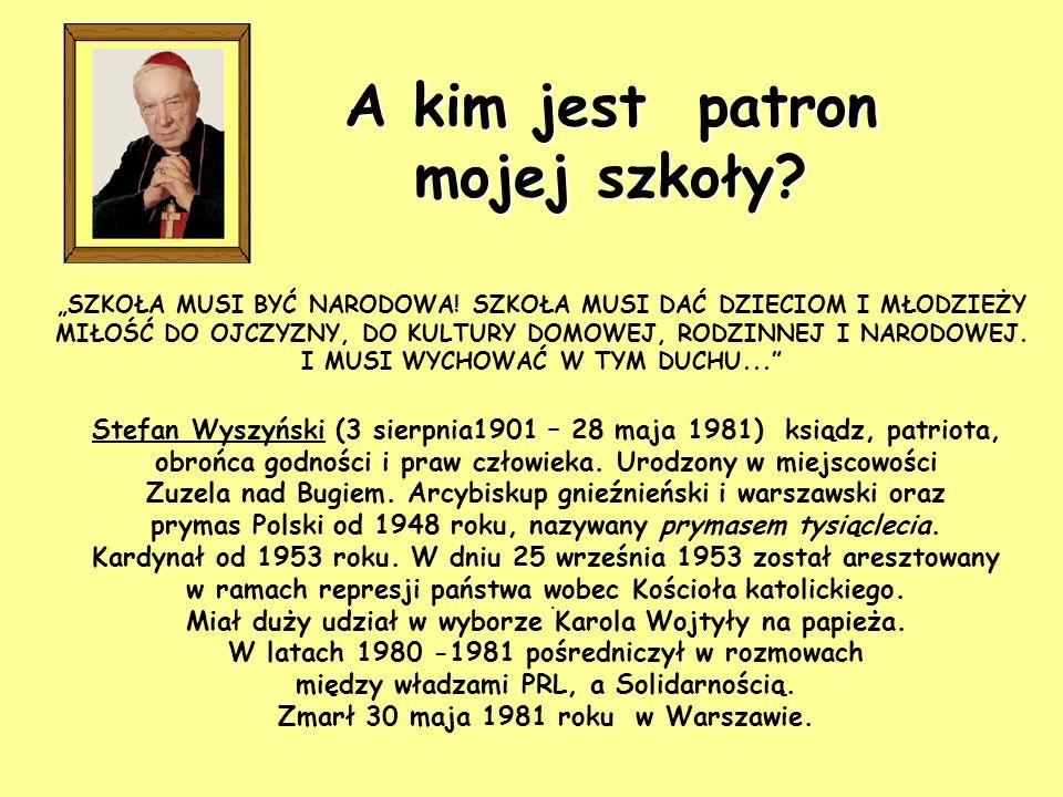 Zespół Szkół im. Prymasa Tysiąclecia Kardynała Stefana Wyszyńskiego w Konecku, to szkoła, do której chodzę