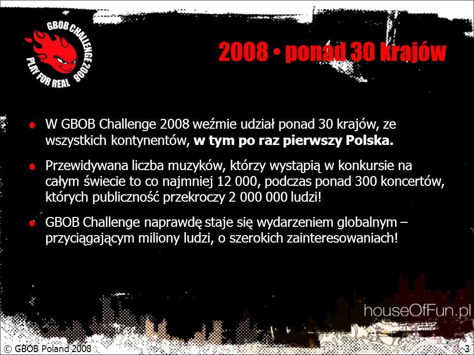 © GBOB Poland 20084 I miesiąc ponad 30 zespołów GBOB jest doskonale znana polskim twórcom i do tej pory niecierpliwie oczekiwana w naszym kraju.