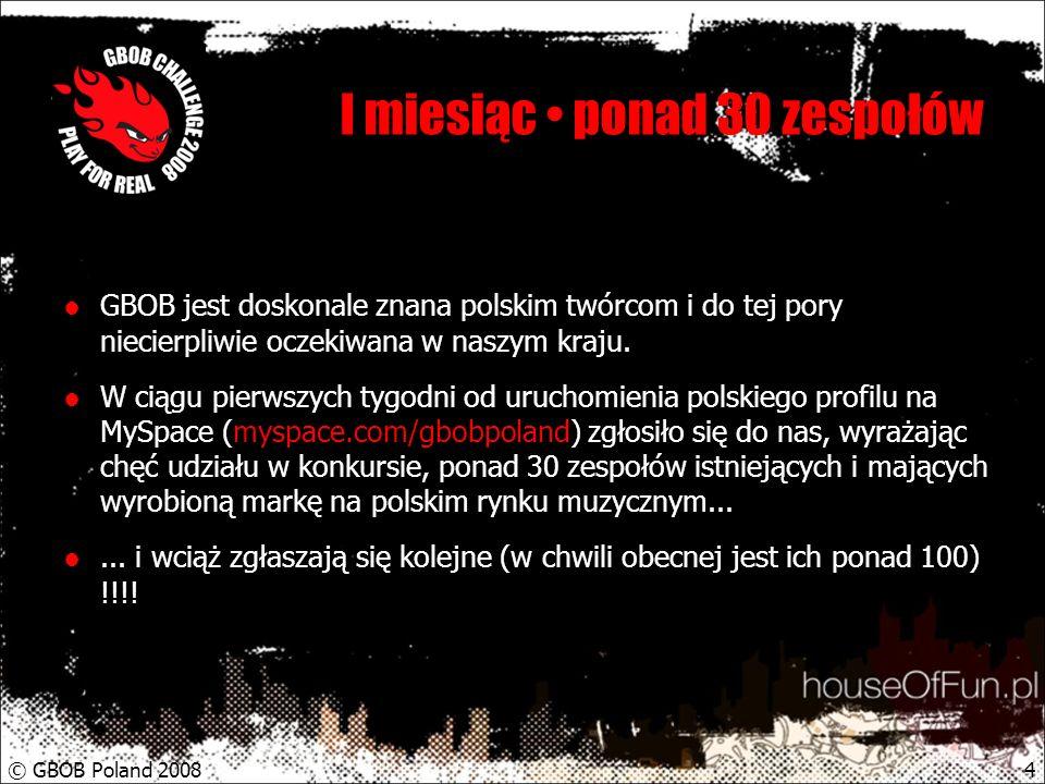 © GBOB Poland 20085 Zasady udziału dla wykonawców Konkurs jest otwarty dla wszystkich wykonawców, niezależnie od stylu muzyki jaki wykonują.