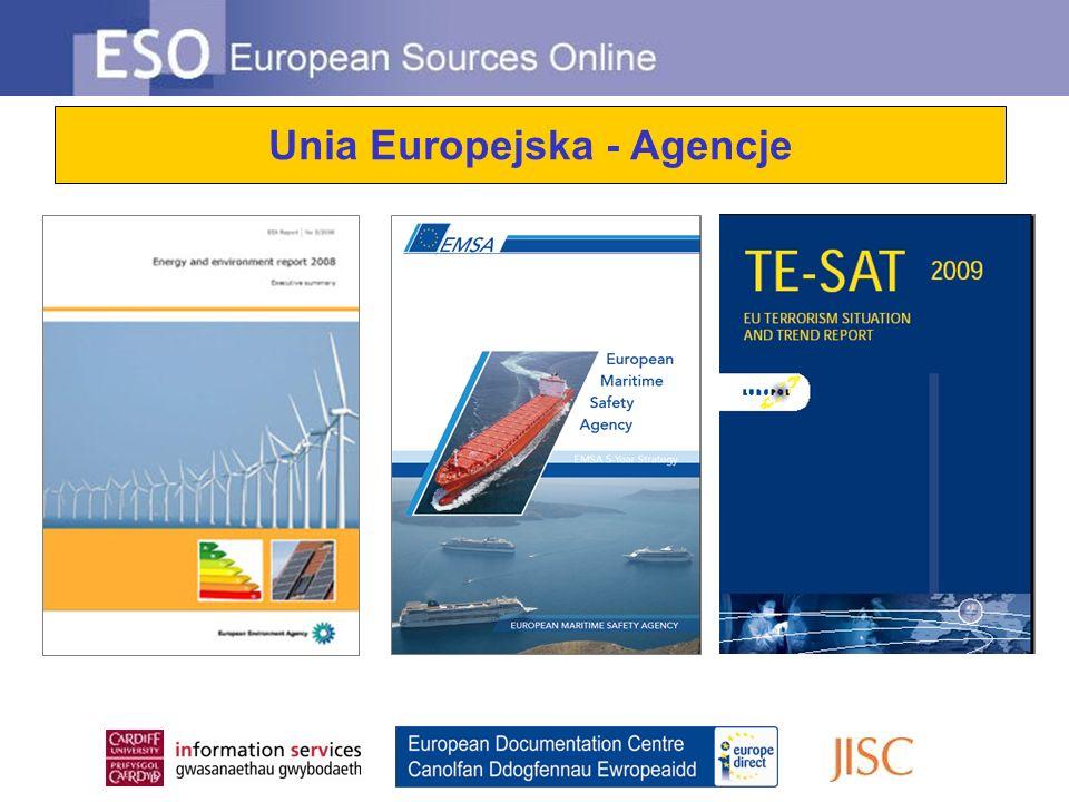 Unia Europejska - Agencje