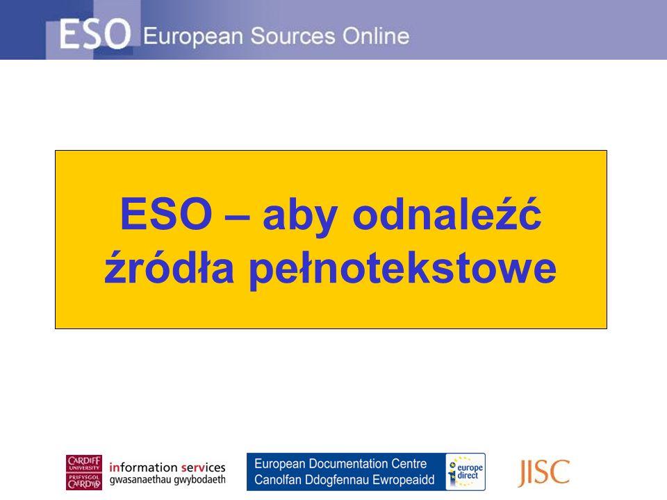 ESO – aby odnaleźć źródła pełnotekstowe