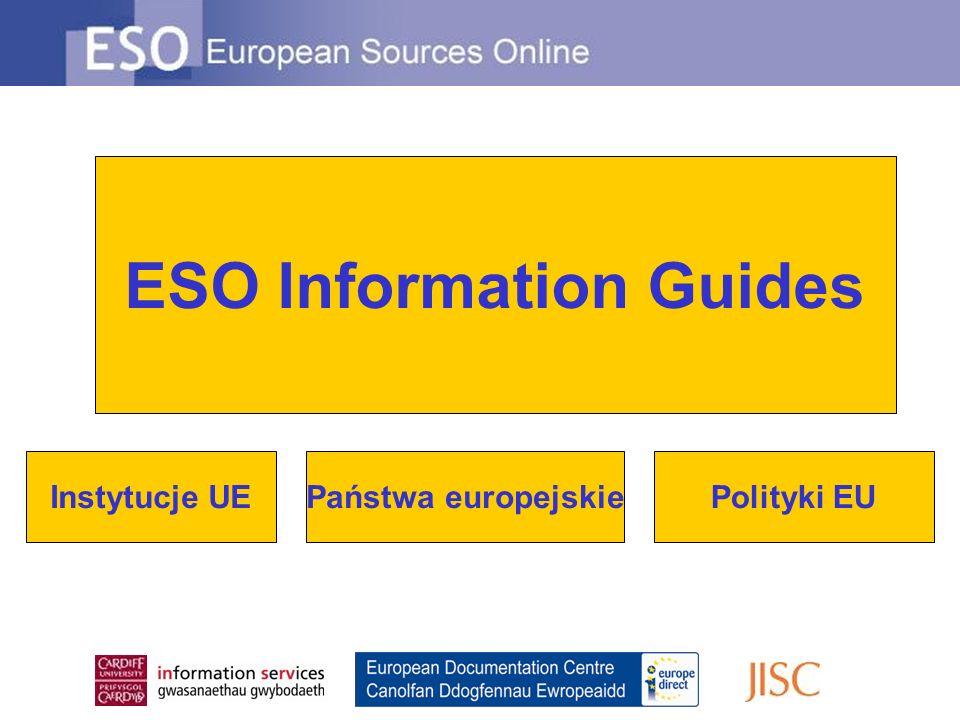 ESO Information Guides Instytucje UEPolityki EUPaństwa europejskie