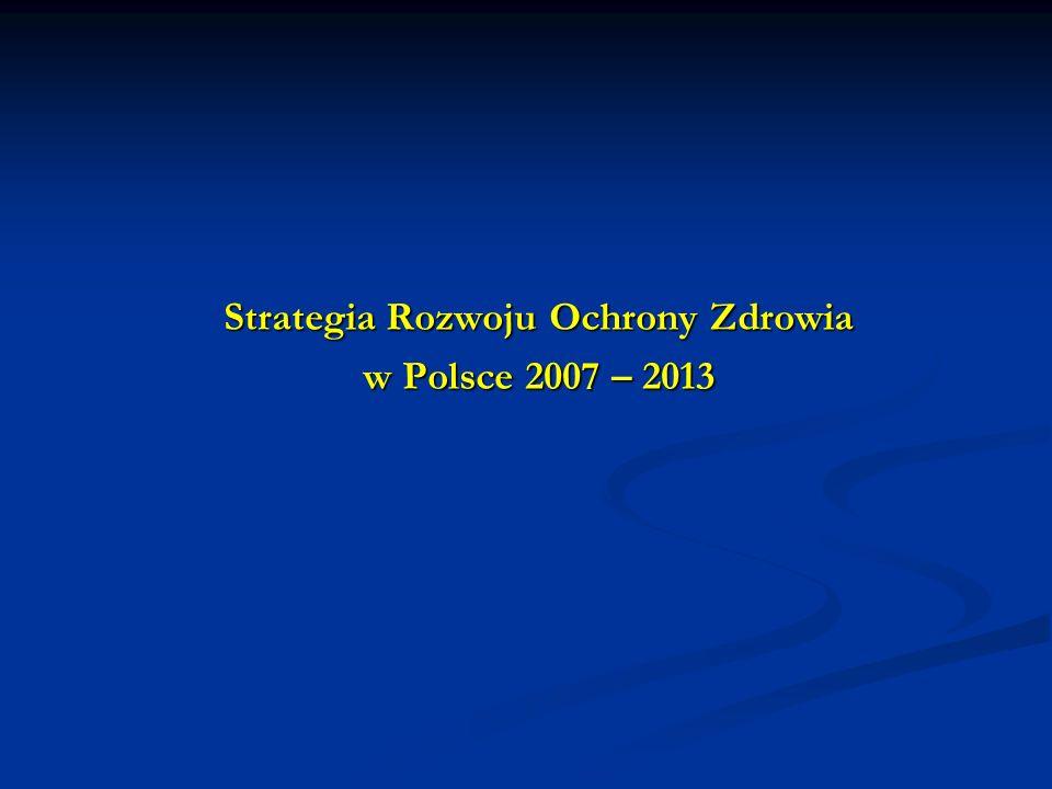 Strategia Rozwoju Ochrony Zdrowia w Polsce 2007 – 2013