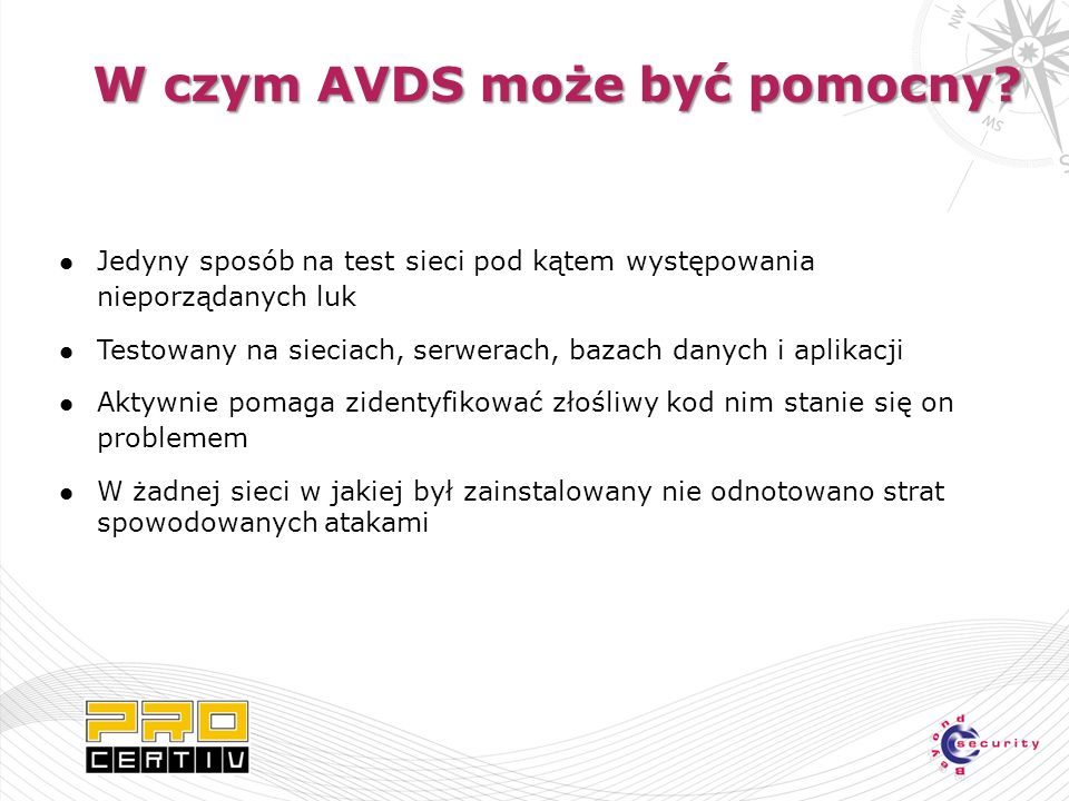 W czym AVDS może być pomocny.