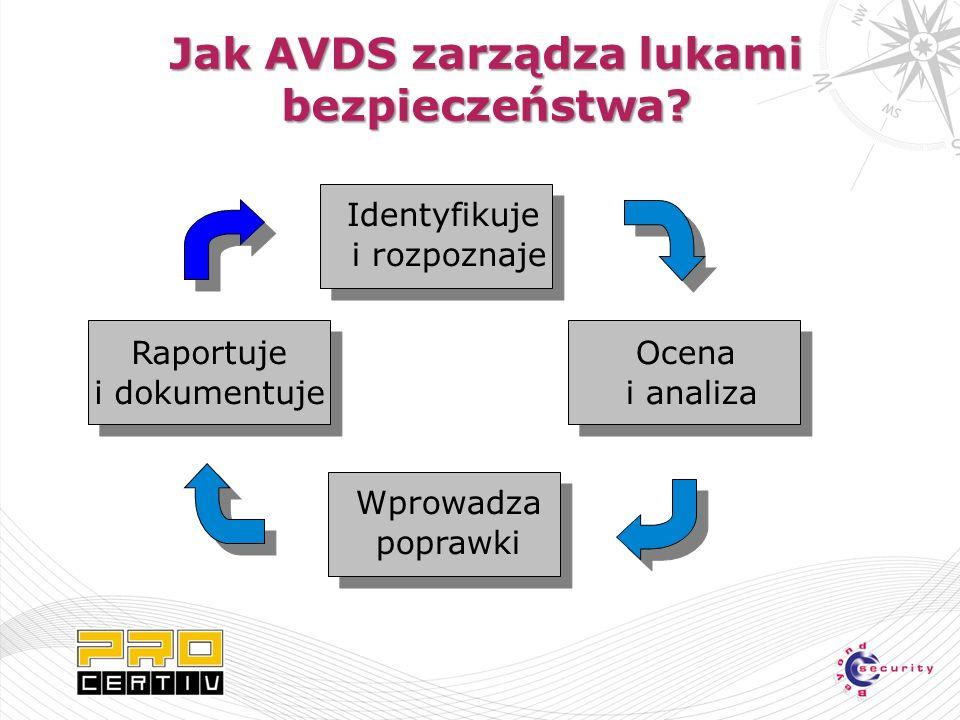 Jak AVDS zarządza lukami bezpieczeństwa.