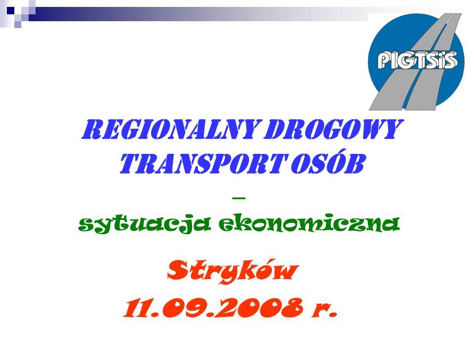 Regionalny drogowy transport osób – sytuacja ekonomiczna Stryków 11.09.2008 r.