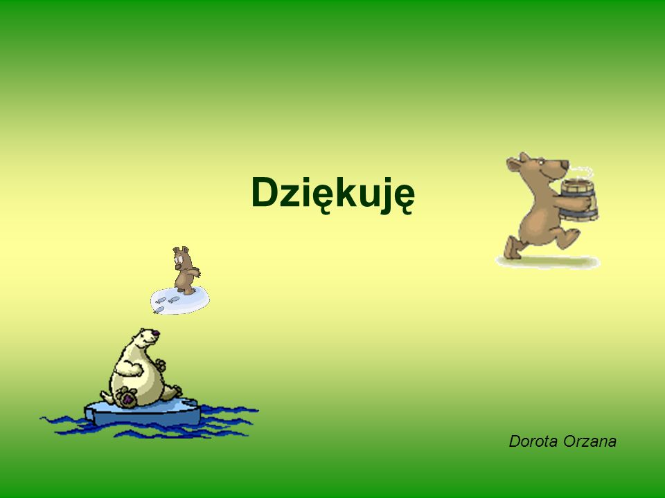 Dziękuję Dorota Orzana