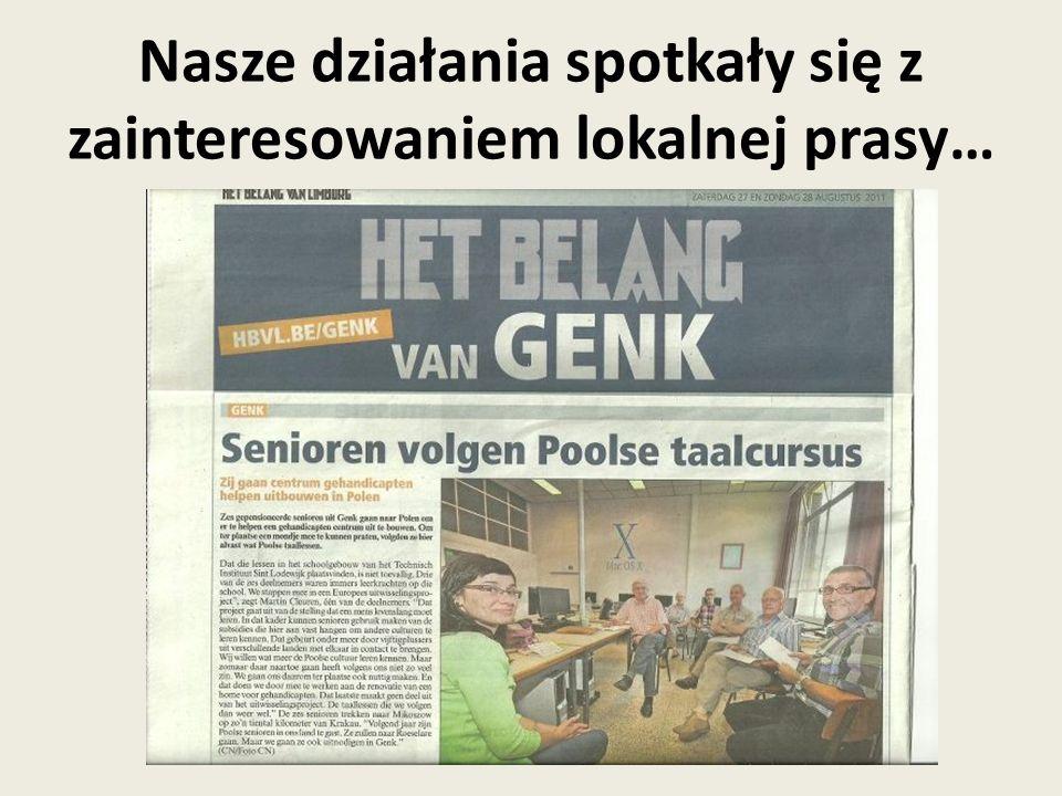 jak również Narodowej Agencji Grundtvig w Belgii