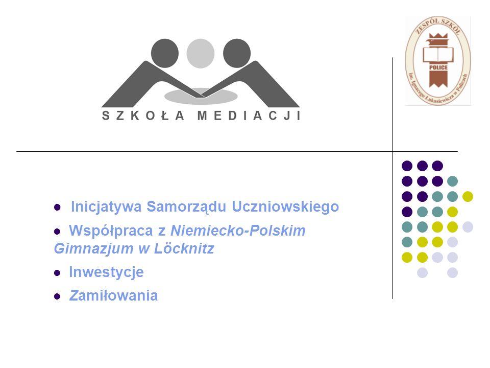 Inicjatywa Samorządu Uczniowskiego Współpraca z Niemiecko-Polskim Gimnazjum w Löcknitz Inwestycje Zamiłowania