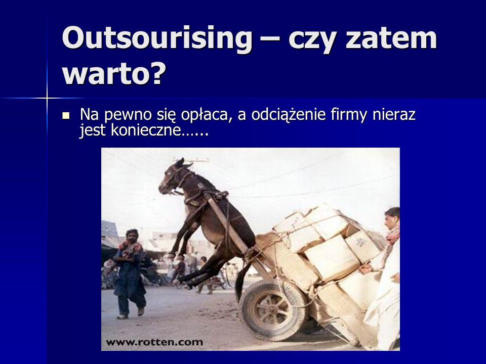 Outsourising – czy zatem warto. Na pewno się opłaca, a odciążenie firmy nieraz jest konieczne…...