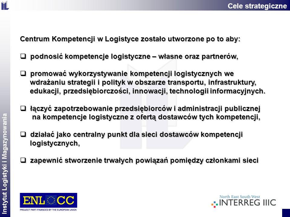 Instytut Logistyki i Magazynowania 2 Centrum Kompetencji w Logistyce zostało utworzone po to aby: podnosić kompetencje logistyczne – własne oraz partn