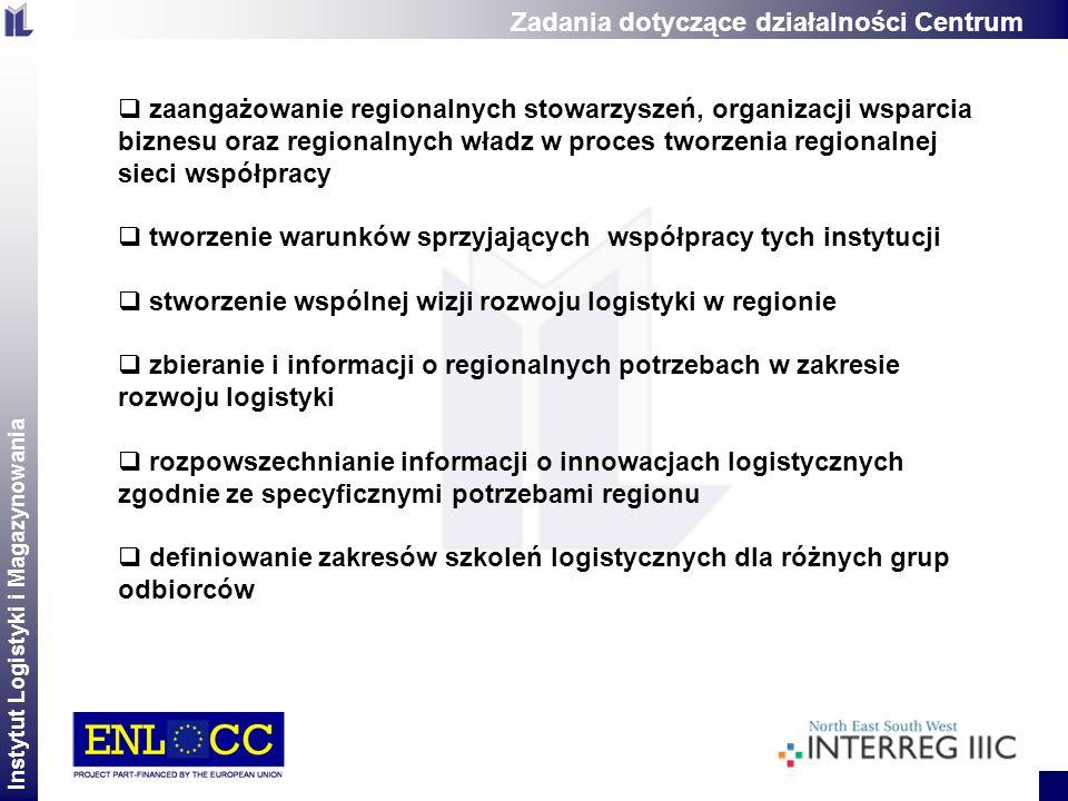 Instytut Logistyki i Magazynowania 2 zaangażowanie regionalnych stowarzyszeń, organizacji wsparcia biznesu oraz regionalnych władz w proces tworzenia