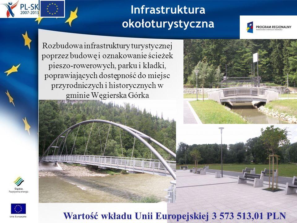 Infrastruktura okołoturystyczna Rozbudowa infrastruktury turystycznej poprzez budowę i oznakowanie ścieżek pieszo-rowerowych, parku i kładki, poprawia