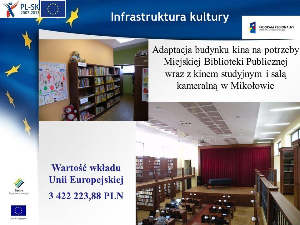 Infrastruktura kultury Adaptacja budynku kina na potrzeby Miejskiej Biblioteki Publicznej wraz z kinem studyjnym i salą kameralną w Mikołowie Wartość