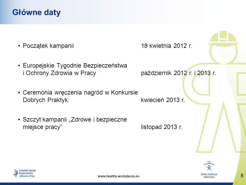 www.healthy-workplaces.eu Początek kampanii 18 kwietnia 2012 r.