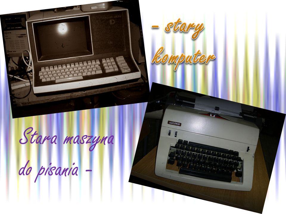 Stara maszyna do pisania -