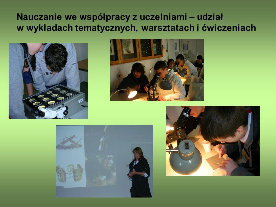 Nauczanie we współpracy z uczelniami – udział w wykładach tematycznych, warsztatach i ćwiczeniach