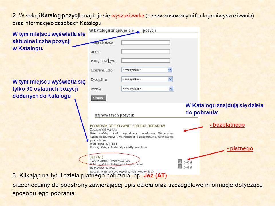 Pliki z rozszerzeniem.pdf należy przeglądać darmowym programem Ado- be Acrobat Reader, można go pobrać ze strony: www.adobe.comwww.adobe.com - Autor: - Tytuł: - Informacje o wydawcy: - Kryteria wyszukiwania zaawansowanego: - Krótki opis dzieła: - Informacja o pliku z jakim roz- szerzeniem zapisane jest dzieło do pobrania oraz jaka jest jego wielkość: 4.