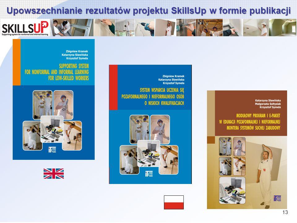 Upowszechnianie rezultatów projektu SkillsUp w formie publikacji 13