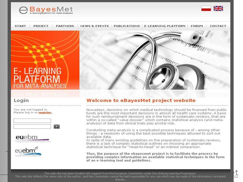 Rezultaty - już uzyskane strona internetowa www.ebayesmet.orgwww.ebayesmet.org
