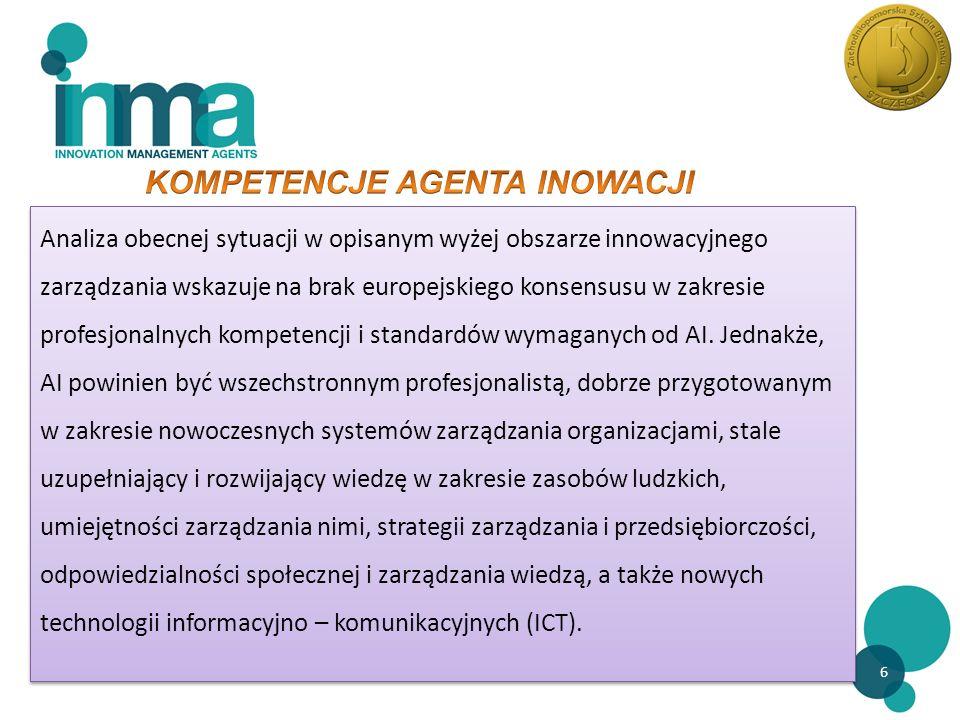 7 Nowe technologie w informacji i komunikacji - ICT Zarządzanie wiedzą Zarządzanie kapitałem ludzkim Zarządzanie strategiczne Odpowiedzialność społeczna