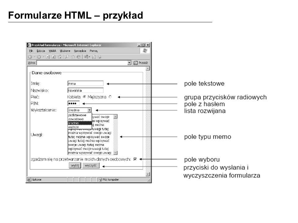 Formularze HTML – przykład