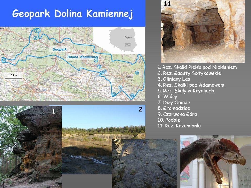 Geopark Łysogórski 1.Bukowa Góra 2. Diabelski Kamień 3.