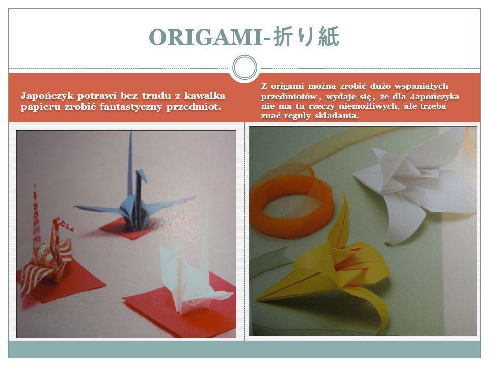 Japończyk potrawi bez trudu z kawałka papieru zrobić fantastyczny przedmiot.