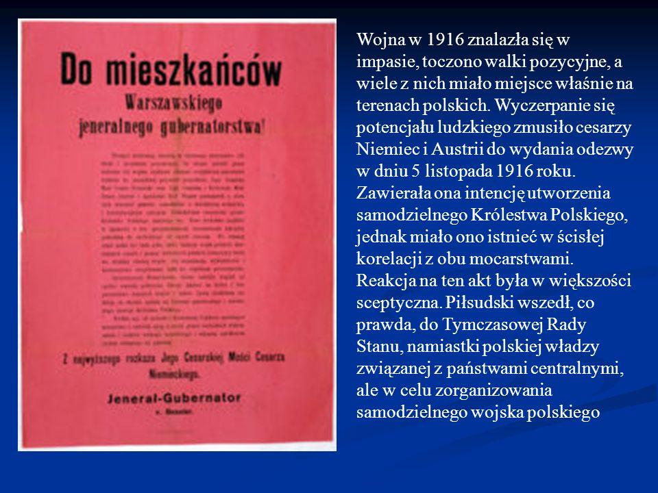Wojna w 1916 znalazła się w impasie, toczono walki pozycyjne, a wiele z nich miało miejsce właśnie na terenach polskich.