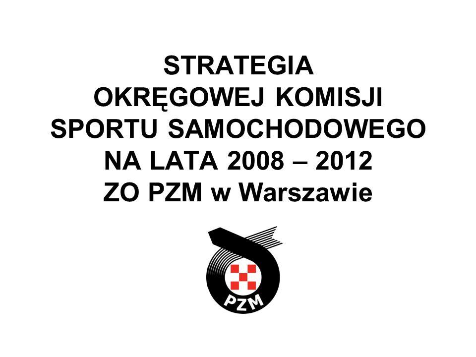 STRATEGIA OKRĘGOWEJ KOMISJI SPORTU SAMOCHODOWEGO NA LATA 2008 – 2012 ZO PZM w Warszawie