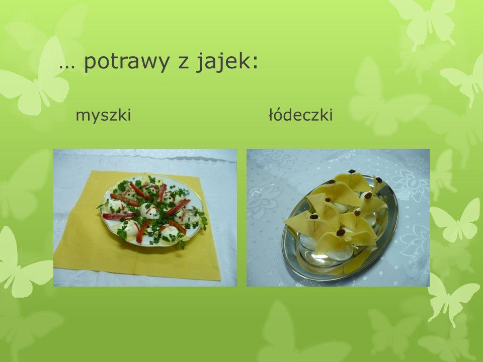 … potrawy z jajek: myszkiłódeczki