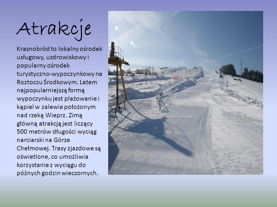 Atrakcje Krasnobród to lokalny ośrodek usługowy, uzdrowiskowy i popularny ośrodek turystyczno-wypoczynkowy na Roztoczu Środkowym. Latem najpopularniej