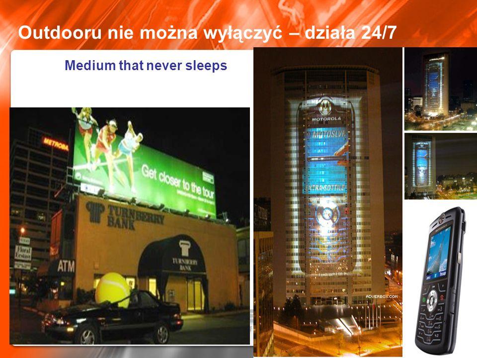 Outdooru nie można wyłączyć – działa 24/7 Medium that never sleeps