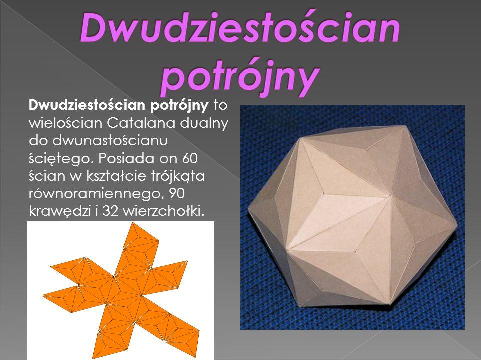 Dwudziestościan potrójny to wielościan Catalana dualny do dwunastościanu ściętego. Posiada on 60 ścian w kształcie trójkąta równoramiennego, 90 krawęd