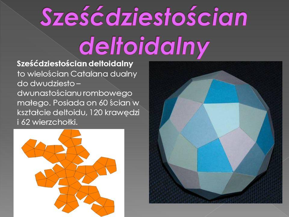 Sześćdziestościan deltoidalny to wielościan Catalana dualny do dwudziesto – dwunastościanu rombowego małego. Posiada on 60 ścian w kształcie deltoidu,